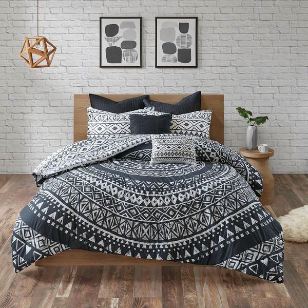 7 Piece Cotton Reversible Comforter Set -Full/Queen Uh10-2143