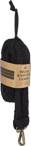 Dog Leash - Black Knitted - Set Of 4 100387 By Primitives By Kathy