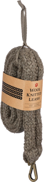 Dog Leash - Gray Knitted - Set Of 4 100388 By Primitives By Kathy