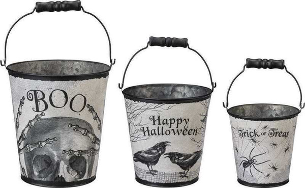 Bucket Set - Halloween - Set Of 2 (Pack Of 2) 102405 By Primitives By Kathy