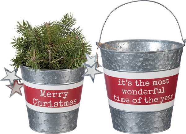 Bucket Set - Wonderful - Set Of 2 (Pack Of 3) 34916 By Primitives By Kathy