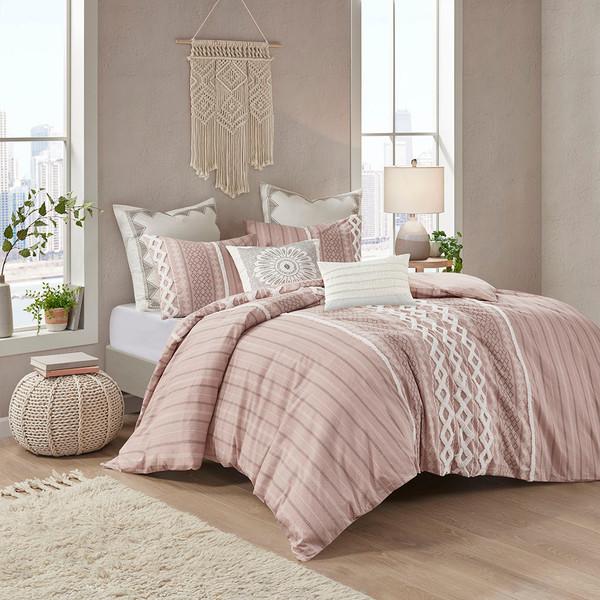Ink+Ivy Imani 100% Cotton Comforter Mini Set - King/Cal King - Blush II10-1094 By Olliix