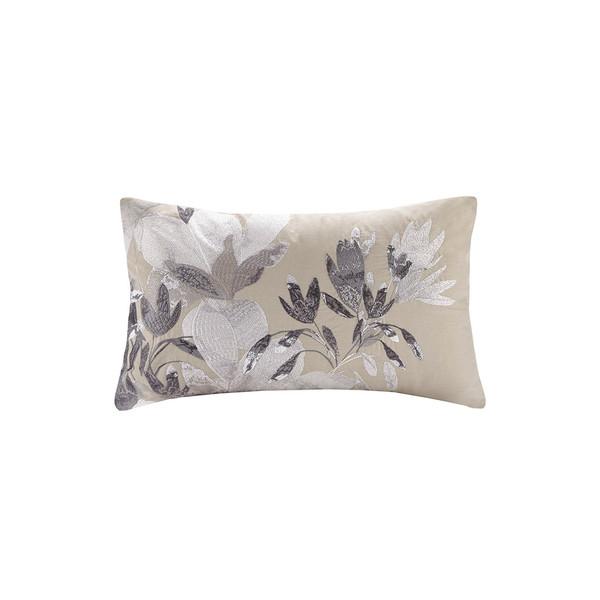 N Natori Odessa 100% Cotton Oblong Pillow- Neutral NS30-3416 By Olliix