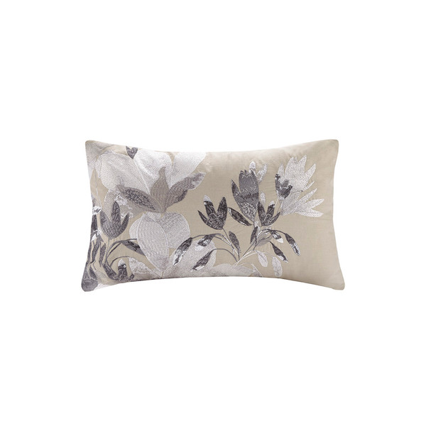 N Natori Odessa 100% Cotton Oblong Pillow- Neutral NS30-3416 By Olliix
