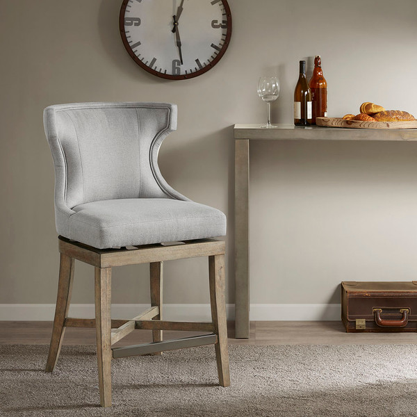 Madison Park Carson Carson Counter Stool With Swivel Seat- Light Grey MP104-0986 By Olliix