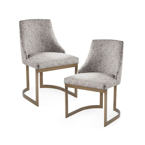 Madison Park Bryce Bryce Dining Chair (Set Of 2)- Grey MP108-0956 By Olliix
