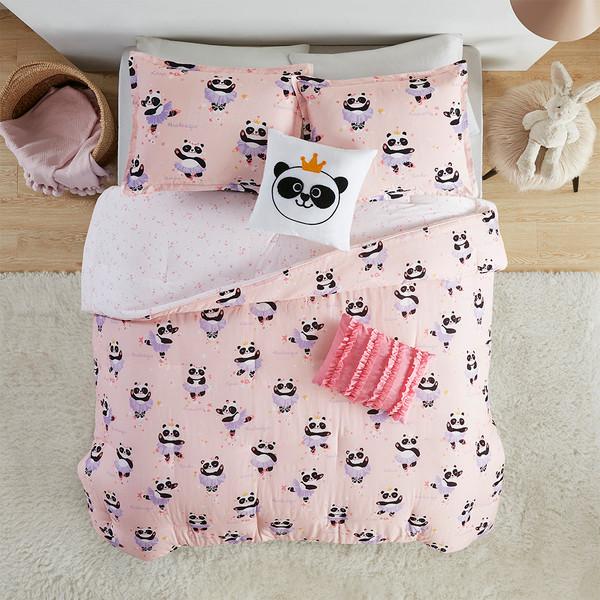 Urban Habitat Kids Piper 100% Cotton Printed Reversible Comforter Set - Twin - Blush UHK10-0114 By Olliix