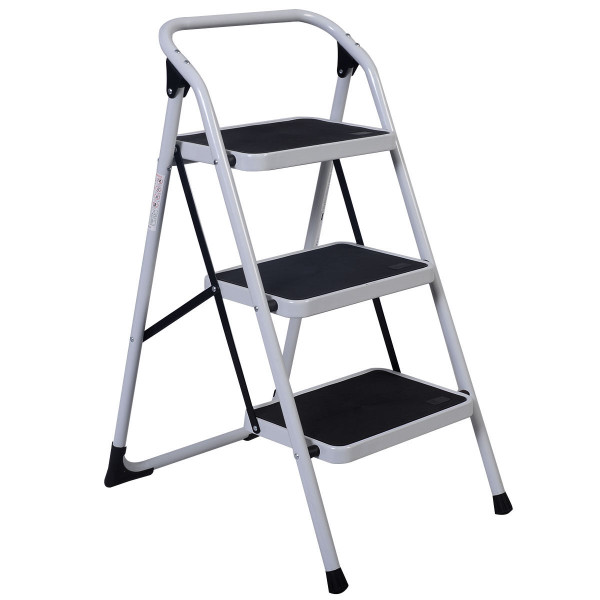 Hd 3 Step Ladder Platform Lightweight Folding Stool TL35248