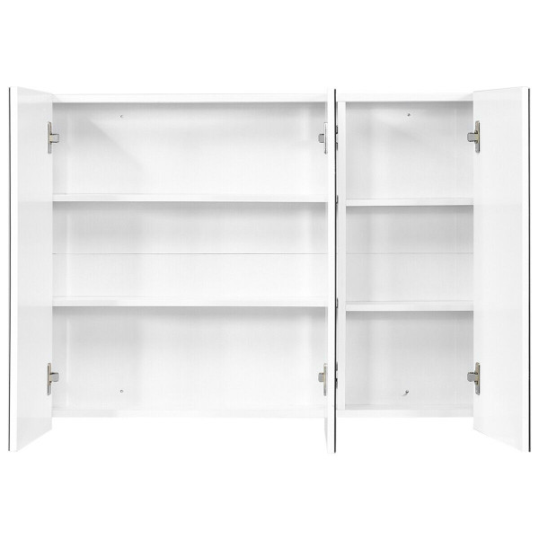 """36"""" Bathroom Medicine Cabinet With 3 Mirrors HW65244WH"""