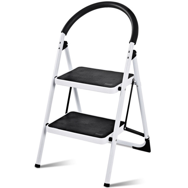 Folding Stool Heavy Duty Industrial Lightweight 2 Step Ladder TL35208