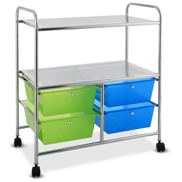 4 Drawers Rolling Storage Cart HW54070GN