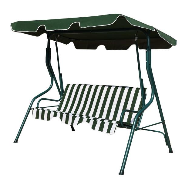 3 Seats Patio Canopy Swing-Green OP70491GN