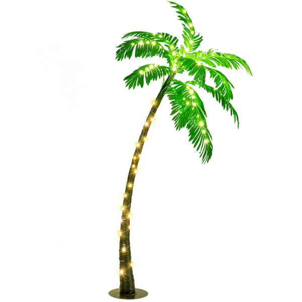 5 Ft Artificial Lighted Palm Tree With Led Lights HW65269