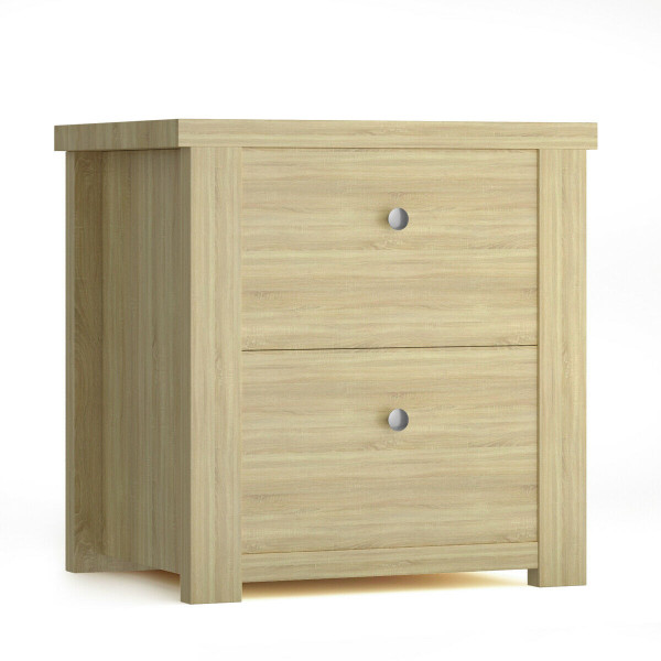 2- Tiers Bedside Sofa Table -Coffee HW64556CF