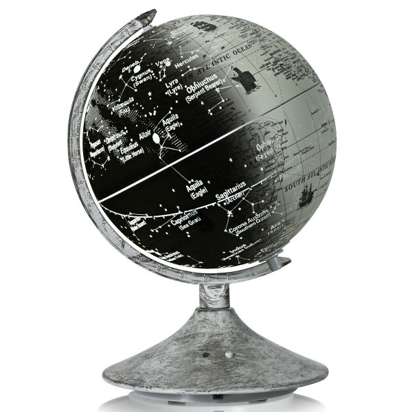 3-In-1 Led World Globe With Illuminated Star Map HW63002
