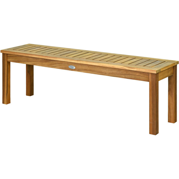 """52"""" Outdoor Acacia Wood Dining Bench Chair OP70391"""
