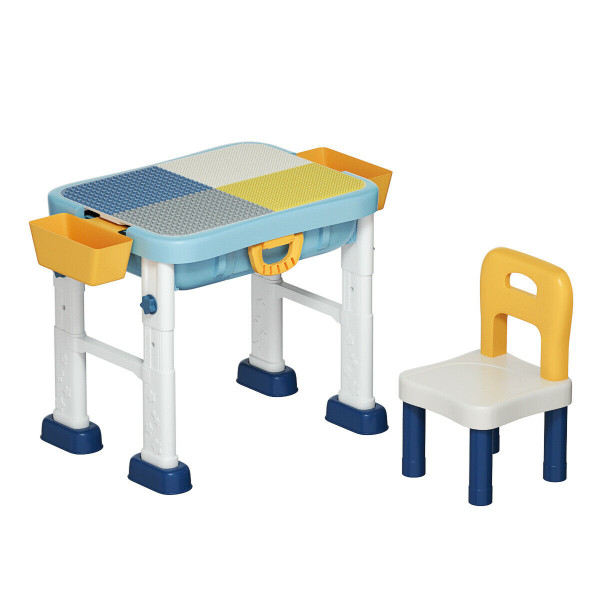 6 In 1 Kids Activity Table Set With Chair HW70217