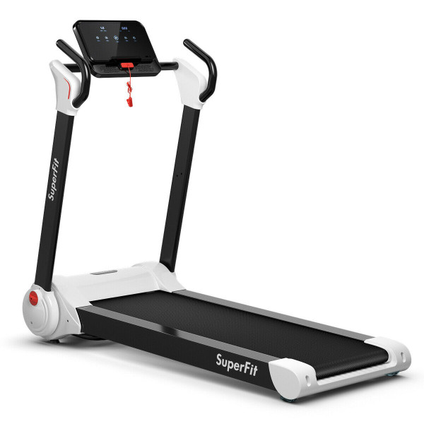 2.25Hp Folding Electric Motorized Treadmill-White SP37068WH