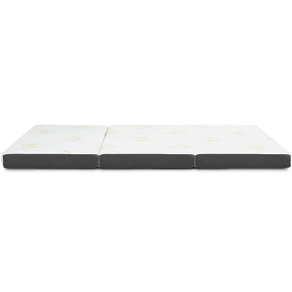 "4"" Twin Size Tri-Folding Memory Foam Mattress HT1121"
