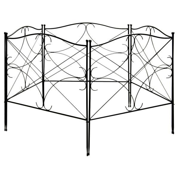 5-Panel 24Inx10Ft Folding Decorative Garden Fence OP70447