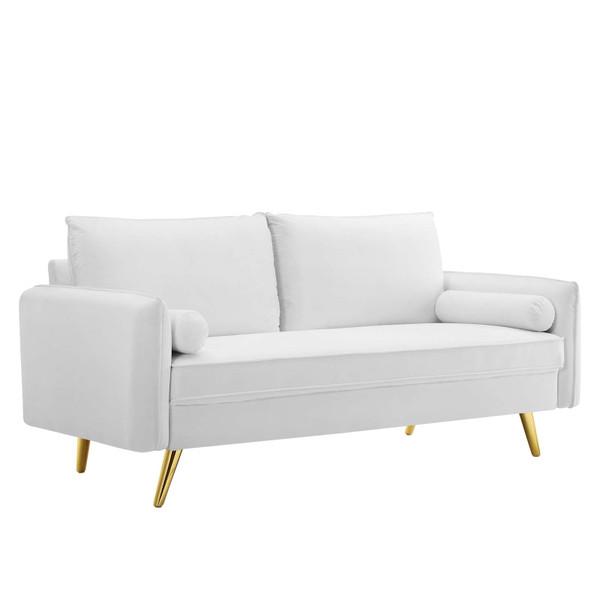 Modway Revive Performance Velvet Sofa EEI-3988-WHI