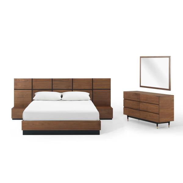 Modway Caima 5-Piece Bedroom Set MOD-6295-WAL-SET