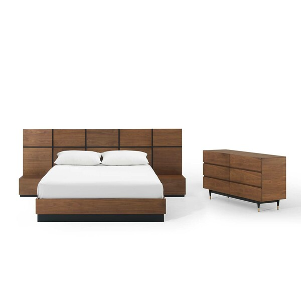 Modway Caima 4-Piece Bedroom Set MOD-6296-WAL-SET