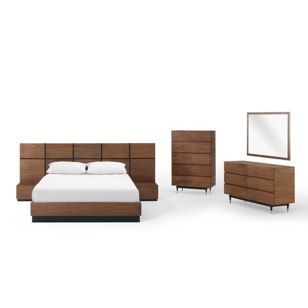 Modway Caima 6-Piece Bedroom Set MOD-6299-WAL-SET