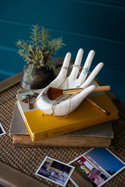 Ceramic Hand Ring Holder CDV2060 By Kalalou