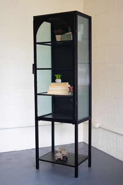Iron And Glass Cabinet - 19X15X63T CHH1333 By Kalalou
