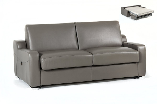 Estro Salotti Dalia Modern Grey Leather Sofa Bed VGNTDALIA-GRY By VIG Furniture