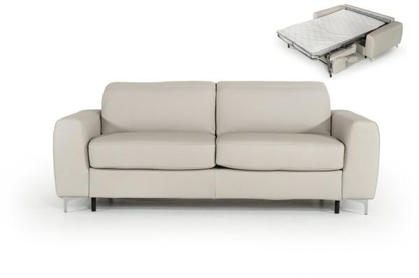 Estro Salotti Tourquois Italian Modern Light Grey Leather Sofa Bed VGNT-TOURQUOIS-E3018 By VIG Furniture