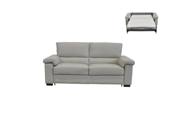 Estro Salotti Spock Italian Modern Light Grey Leather Sofa Bed VGNTSPOCK-E3018 By VIG Furniture