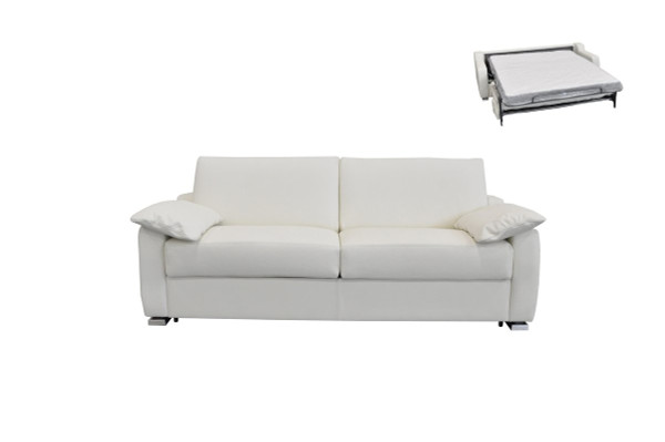 Estro Salotti Dalia Italian Modern White Leather Sofa Bed VGNTDALIA-SB-E544 By VIG Furniture