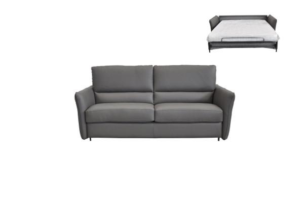Estro Salotti Smack Italian Modern Grey Leather Large Sofa Bed VGNTSMACK-MAXI-E3011 By VIG Furniture