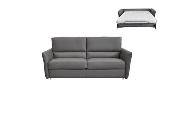 Estro Salotti Smack Italian Modern Grey Leather Sofa Bed VGNTSMACK-E3011 By VIG Furniture