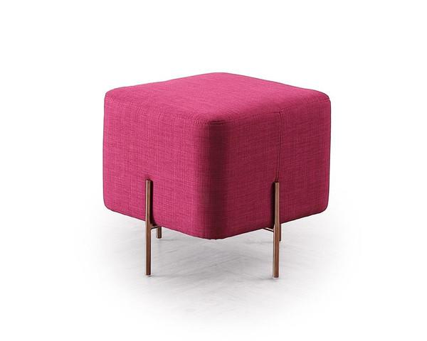 Divani Casa Adler Modern Pink Small Ottoman VG2T1181A-PNK By VIG Furniture