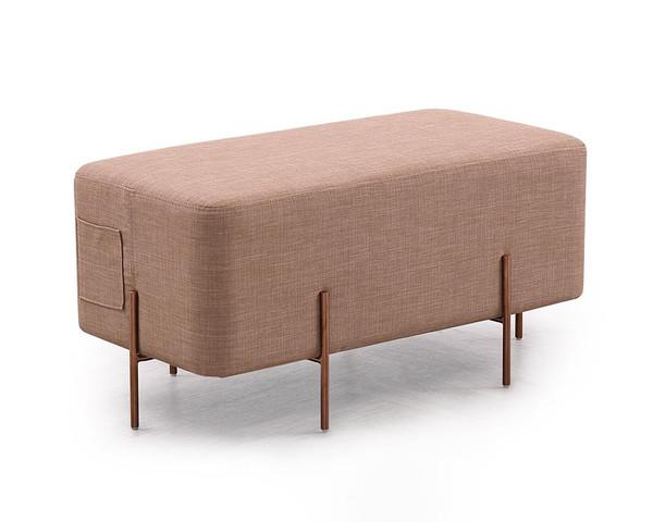 Divani Casa Adler Modern Brown Fabric Ottoman VG2T1181B-BRN By VIG Furniture