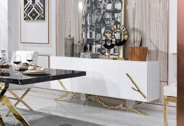 Modrest Legend Modern White & Gold Buffet VGVCG8111-WHTGLD By VIG Furniture