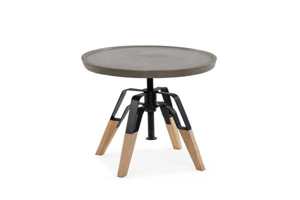 Modrest Yates Modern Concrete & Oak End Table VGGR789955 By VIG Furniture