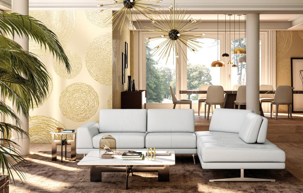 Accenti Italia Bellagio Italian Modern White Leather Sectional Sofa VGDDBELLAGIO-WHT By VIG Furniture