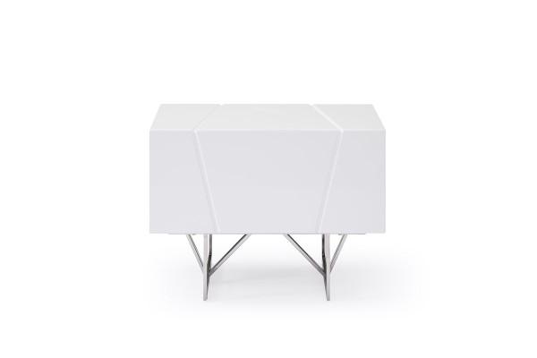 Modrest Chrysler Modern White Nightstand VGVCN8978-WHT By VIG Furniture