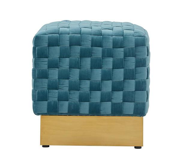 Divani Casa Atwood Modern Blue Velvet Ottoman VGRH-RHS-OT-216-BLU By VIG Furniture