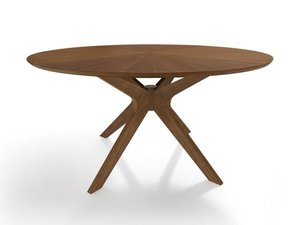 "Modrest Prospect - Modern 47"" Round Walnut Dining Table VGMAMIT-5276-3 By VIG Furniture"