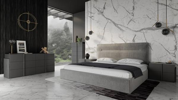 Nova Domus Juliana - Italian Modern Dark Grey Upholstered Bed VGACJULIANA-BED By VIG Furniture