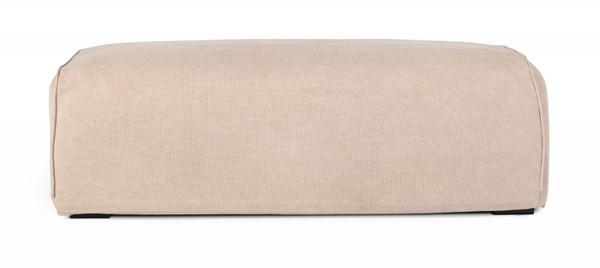 Divani Casa Avon - Modern Classic Sand Fabric Ottoman VGAFSLOWOTT By VIG Furniture