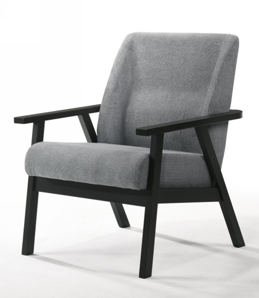 Modrest Borden - Modern Black And Grey Fabric Accent Chair VGMAMI-972-CHR By VIG Furniture
