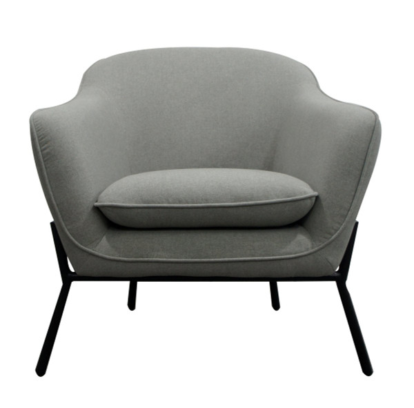 Modrest Joiner - Modern Grey Fabric Armchair VGUIMY431-GREY By VIG Furniture