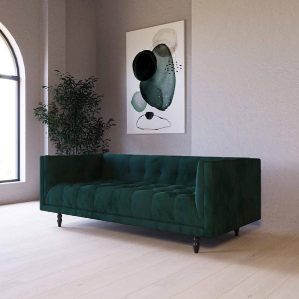 Divani Casa Morrow - Modern Green Fabric Green Sofa VGUIFLORA By VIG Furniture