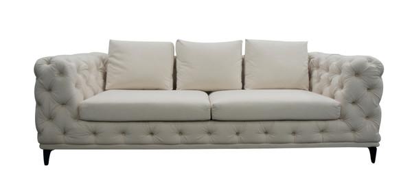 Divani Casa Werner - Modern White Velvet Sofa VGUIVANCOUVER-S By VIG Furniture